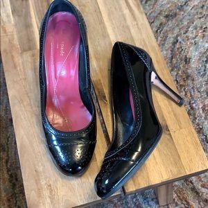 Kate Spade Patent black heels size 10